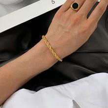 Женский винтажный плетеный браслет 3 цвета