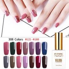 RS NAIL Gel Varnish 308 Colors Nail Polish French Manicure Art lak UV Resin Unhas de Wholesale for Salon 15ml