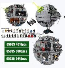 05026 05063 05035 Star Wars Series Star Plan Series Force Waken UCS Death Star II Lepining Building Block Bricks Toys Kits