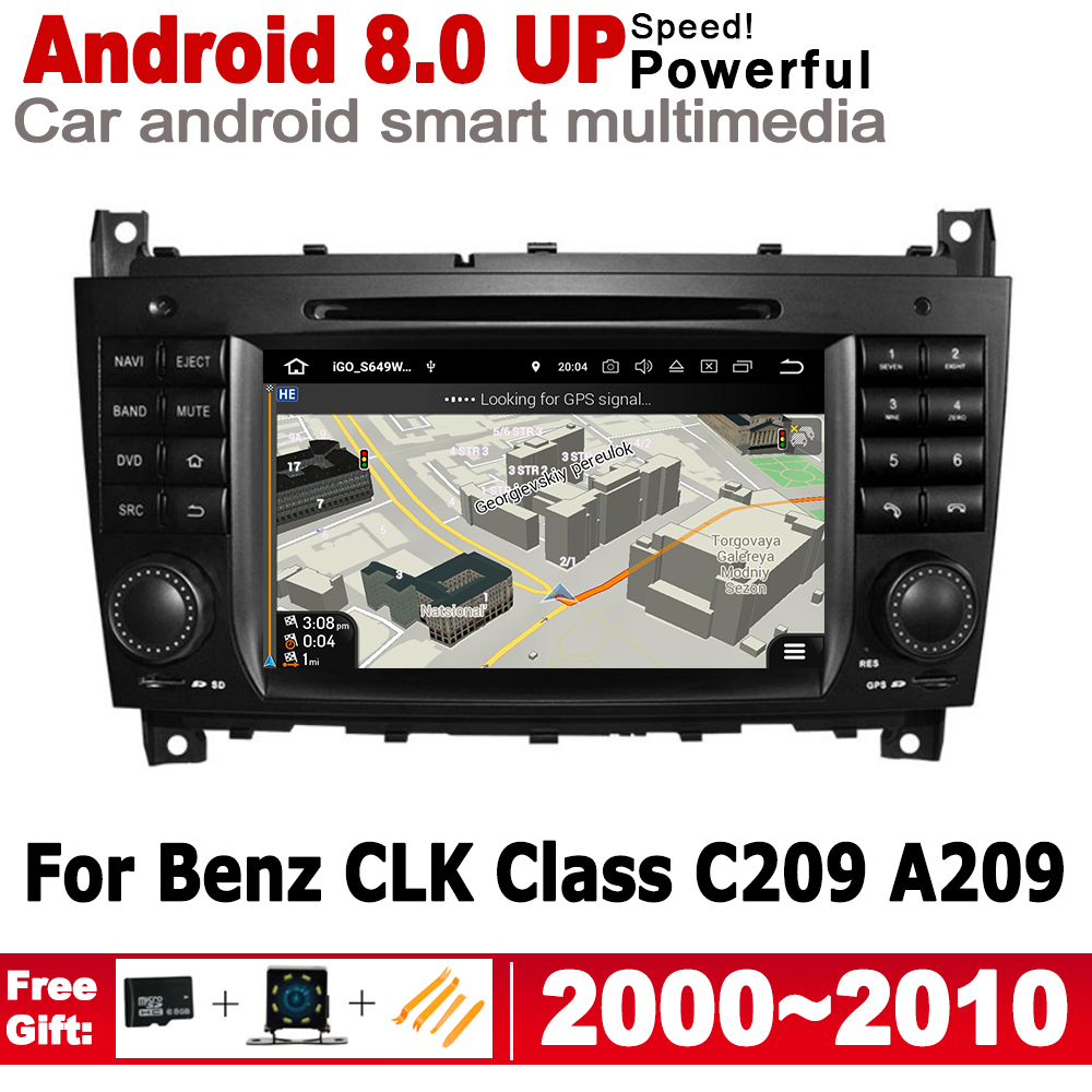 For Mercedes Benz CLK Class C209 A209 2000~2010 NTG 2 Din Car Multimedia Player Android Radio GPS Navigation Stereo audio IPS image