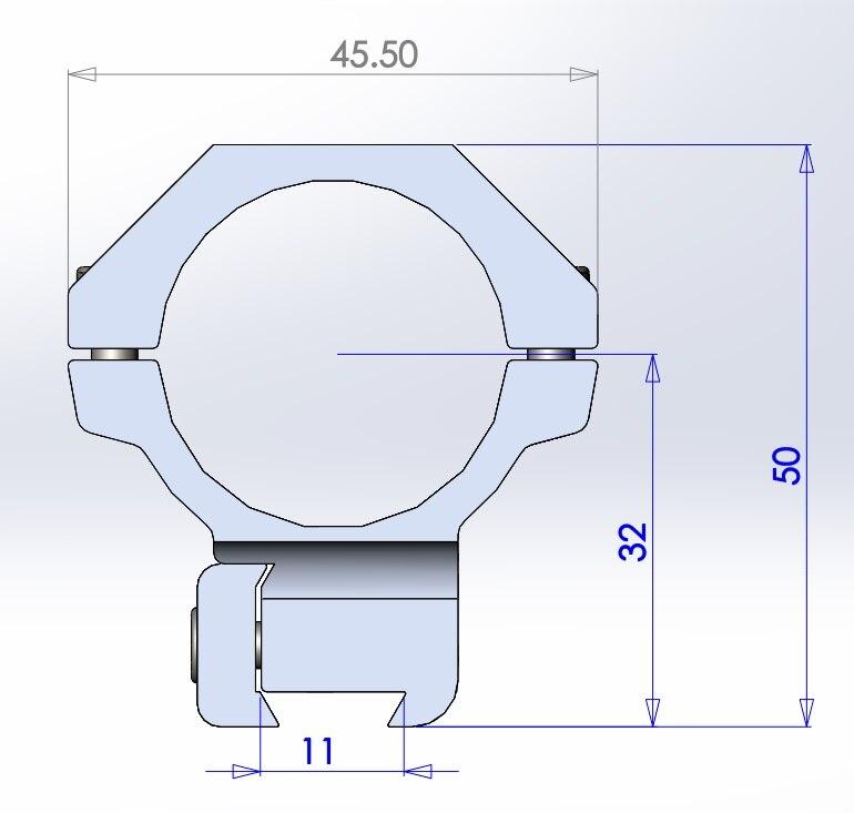 Escopo monte diâmetro 25.4 30mm adaptador de