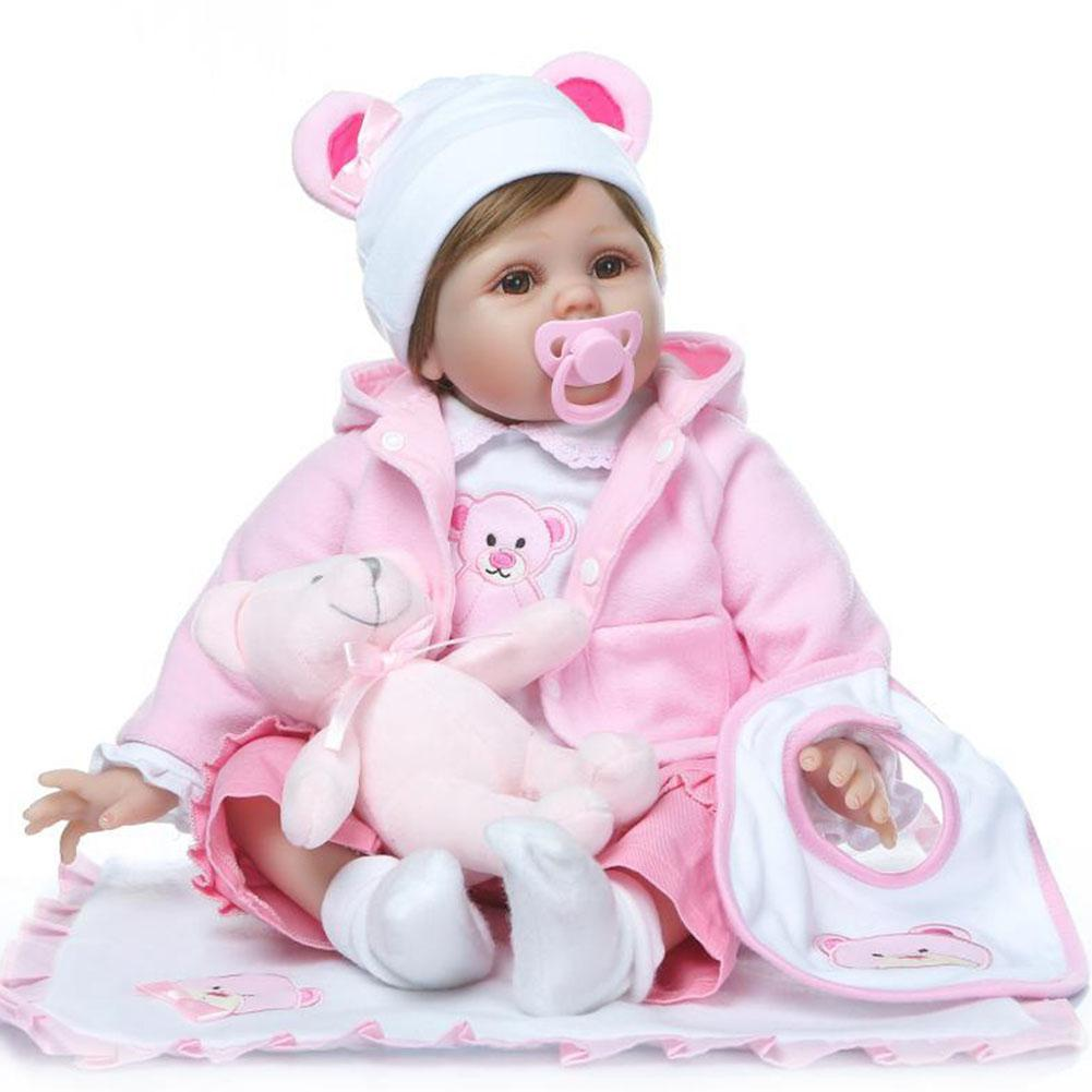 Yiwa Cute Soft Realistic Silicone Vinyl Baby Doll Toys For Children Christmas Birthday Doll Toy About 55CM
