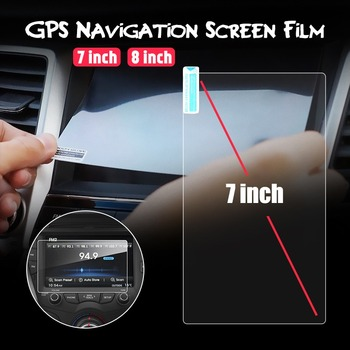 1Pcs 7/8 inch Toughened Glass Screen Protector Film Fit Car GPS Navigation For Kia Sportage 2016 2017 KX5 image