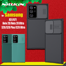 Nillkin caso de proteção da câmera para samsung galaxy note 20 ultra s20 fe s21 plus lente proteger casos para samsung a51 a71 m51 capa