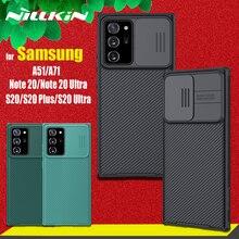 Nillkin kamera koruma çantası Samsung Galaxy not için 20 Ultra S20 FE S21 artı Lens koruma kılıfları Samsung A51 a71 M51 kapak