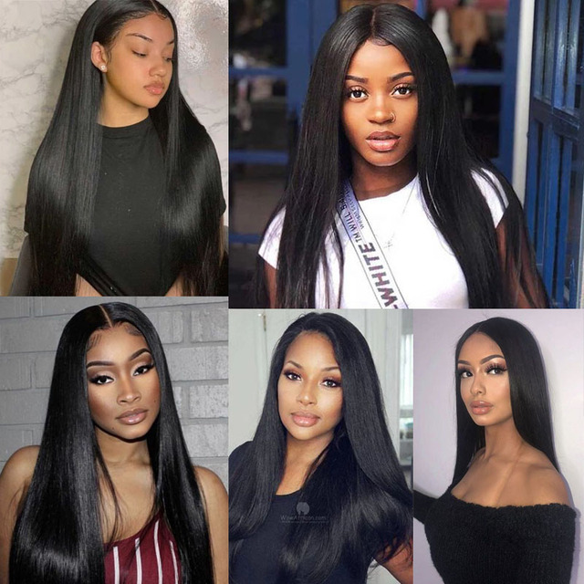 Pelucas de cabello humano Silkswan, pelucas frontales de encaje 13x4 y 13x6 para mujeres, cabello brasileño de densidad 150, peluca de encaje suizo, cabello Remy liso