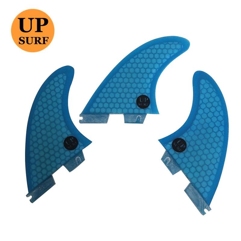 FCS2 G3/G5/G7 Surfboard Fins Blue 3pcs/set Blue Tri-Set Honeycomb Fins FCSII Fin Surf Quilhas