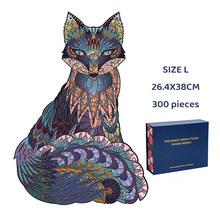 NEW 3D Wooden Puzzle Mysterious Animal Puzzles Boutique Gift Box Packaging Gift For Adult Kids Fabulous Montessori Toys Gift