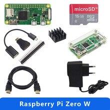 Raspberry pi zero w starter kit + acrílico caso gpio encabeçamento + dissipador de calor + fonte de alimentação opção da câmera 1ghz cpu 512mb ram rpi w
