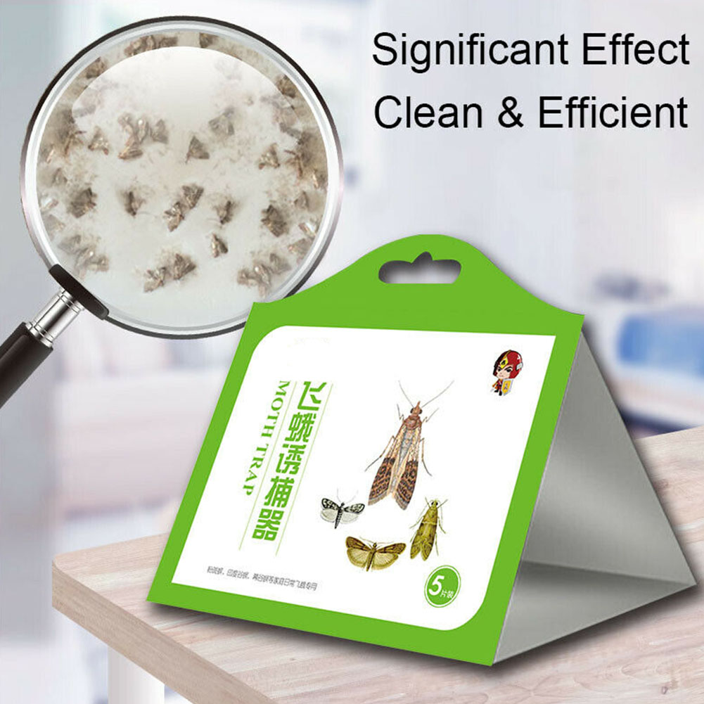 Adhesive Safe Accessories Catching Home Professional Moth Trap Pheromone Attractant Flies Killer Kitchen Food Clothes Hanging|Traps| |  - title=