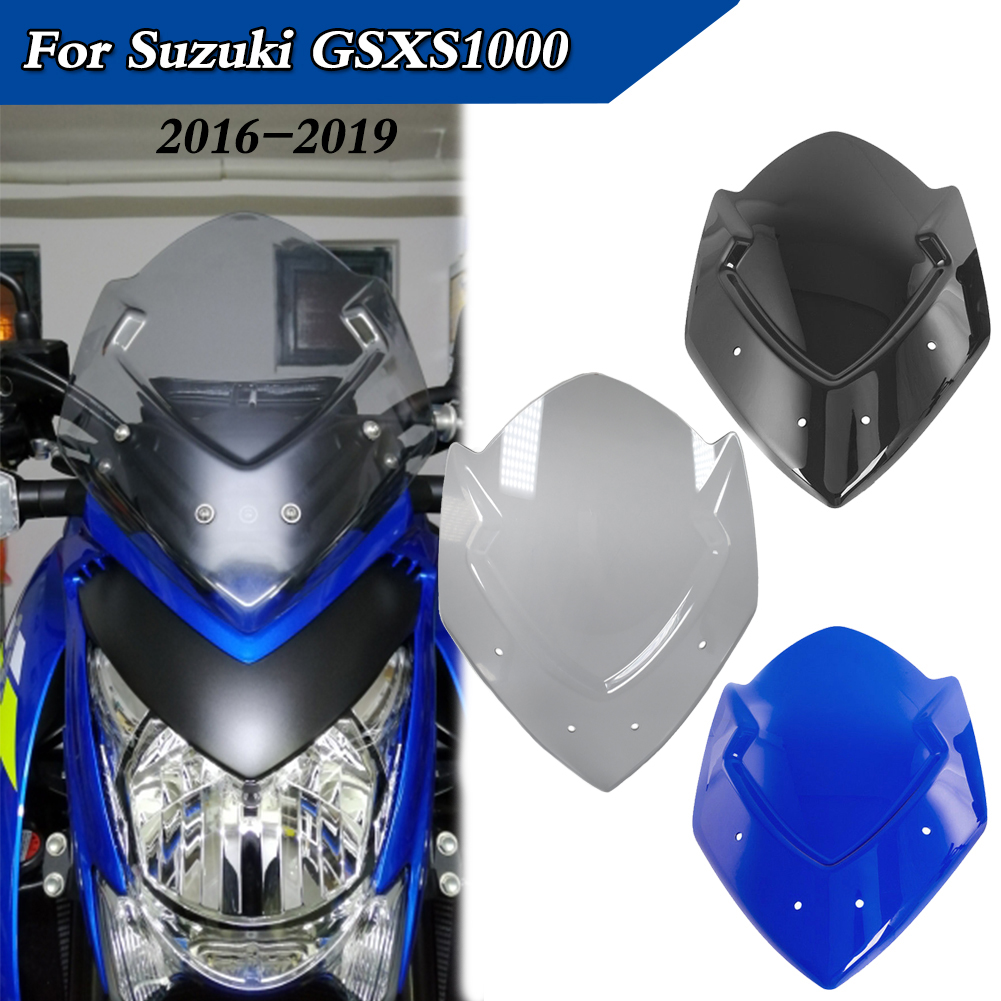 Motorcycle Accessories Windscreen Windshield Screen For Suzuki GSX-S1000 GSXS 1000 2016 2017 2018 2019 GSXS1000 Wind Deflectors image
