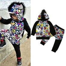 Emmabay bebé niño chándal conjuntos de ropa de manga larga con capucha camisa Tops pantalones conjuntos de ropa 2 piezas