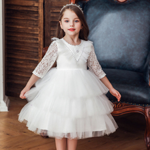 Vgiee Princess Dress for Girls Kids Party Wedding Knee-Length Half Fall Winter Style Kids Dresses for Baby Girls Princess CC623 new arrivals fall winter cartoon yellow mouse long sleeve dress baby kids girls boutique knee length milk silk match accessories