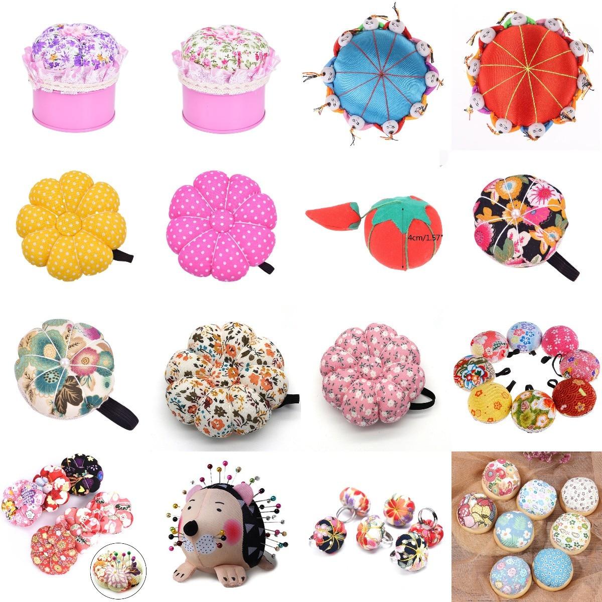 1Pc Ball Shaped DIY Craft Needle Pin Cushion Holder Sewing Kit Pincushions Wrist Strap Pin Cushion Home Sewing Supplies New