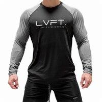 Camiseta deportiva de gimnasio para hombre, camisa de manga larga para correr, entrenamiento y Fitness, 2020 algodón