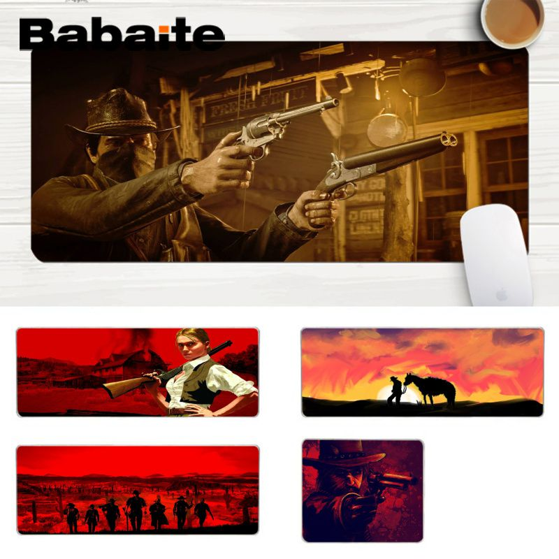 Babaite Red Dead Redemption Gamer Play Mats Mousepad Comfort Mouse Mat Gaming Lockedge Mousepad Gaming Mouse Pad