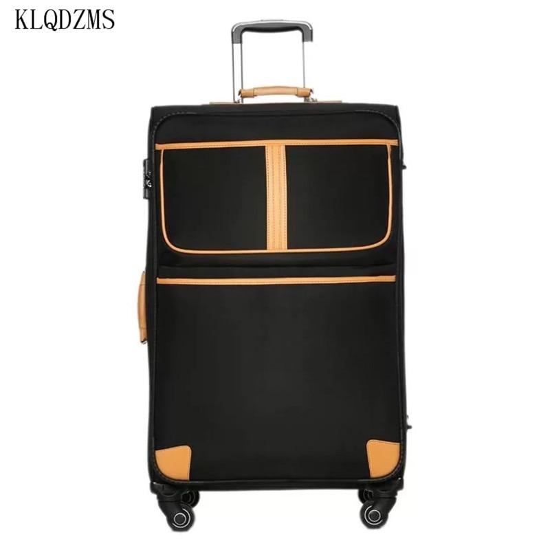 KLQDZMS Classic Luggage Retro Tralley Suitcase Bag Universal Wheel Travel Password Box 20