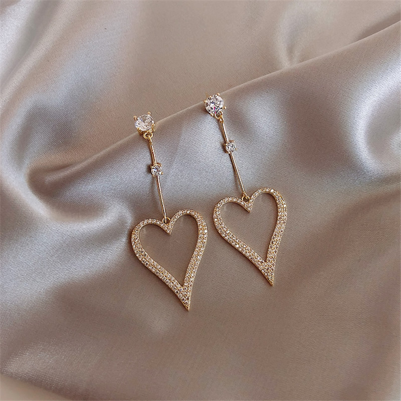 Earrings 2020 new wave Korean version of temperament net red long round face was thin earrings Personality Trend metal earrings