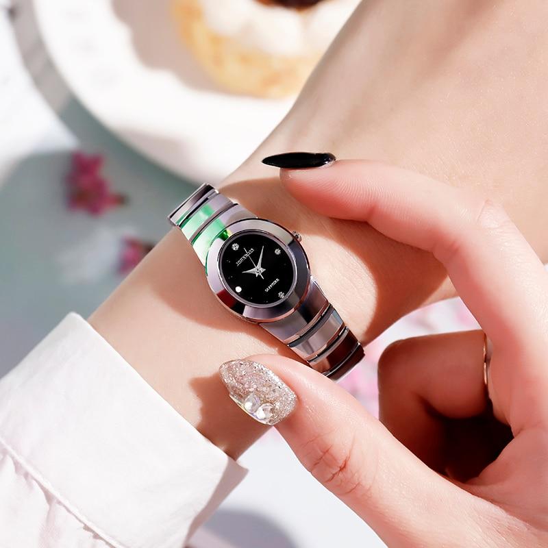 John Boss Tonneau Tungsten Steel Sapphire Crystal Watch Woman Simple Oval Classic Design Waterproof Watch Men Watch Couple