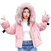 Korean Style Winter Coat Women 2018 Womens New Cotton Fashion Hooded Down Long Sleeve Clothes