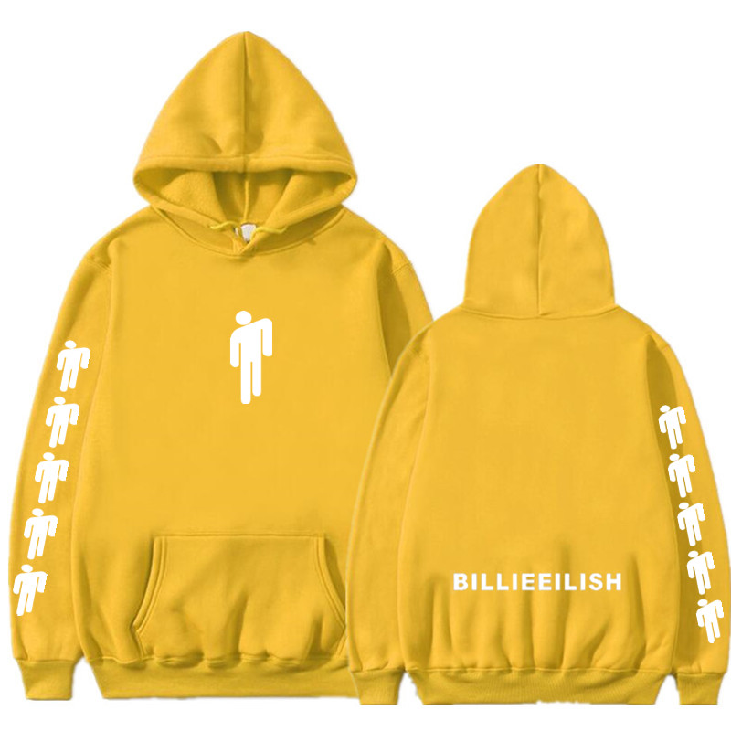 2019 Billie Eilish Fashion Printed Hoodies Long Sleeve Hooded Sweatshirts Hot Sale Women/Men Casual Trendy Streetwear Hoodies
