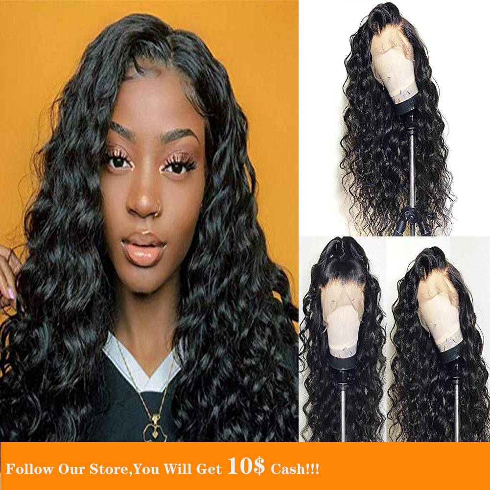 13x6 Lace Front Wig Fake Scalp Body Wave Transparent Wig 180% Human Hair Lace Wig Bleached Knots Remy Natural For Women Peruvian