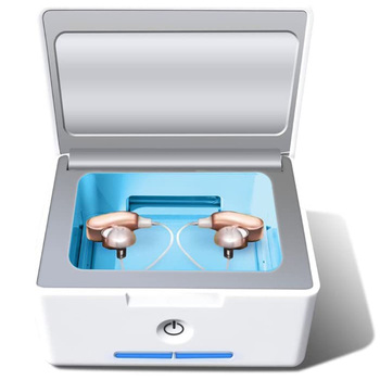 Hearing Aid and Electronic Cochlear Amplifier Dryer Accessories,with Dehumidifier Fuction Holder Drying Box(EU Plug)