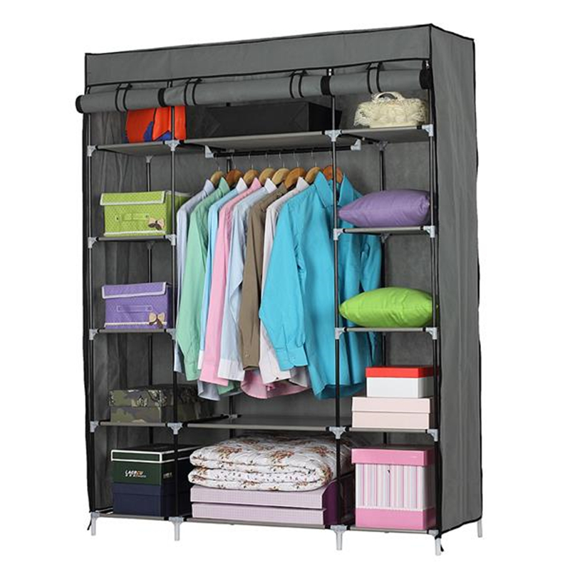 5-Layer Cloth Wardrobe Portable Closet Non-woven 12-Compartment Clothing Storage Cubes Cabinet Multifunctional Bedroom Furniture