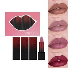 4pcs Rossetto Opaco Set di Lunga durata Impermeabile Non-stick Tazza Velluto Rossetto Lip Tint Trucco(China)