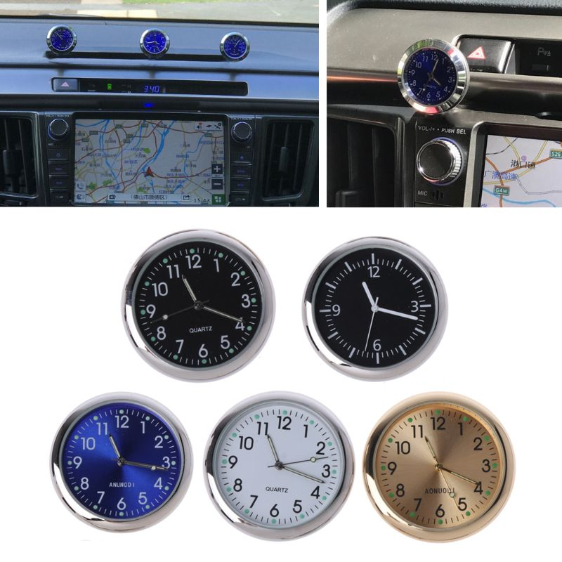 Universal Car Clock Stick-On Electronic Watch Dashboard Noctilucent Decoration For SUV Cars U90C