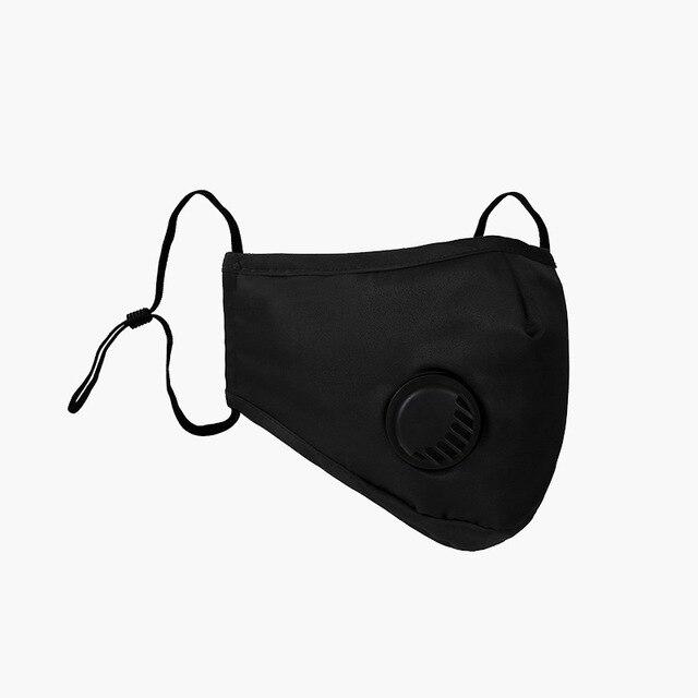 2020 Five-layer Mouth Mask Breath Valve Маска Mascherine Filtration PM2.5 Face Masks Masque Dust Mascaras Respirator Maska 5