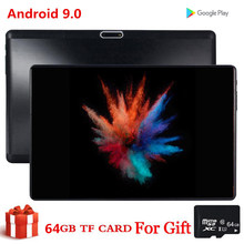Presente 64 gb tf duplo cartão sim tablet 10 Polegada s119 mid pc global bluetooth 3g wifi phablet android 9.0 núcleo 2.5d tablet ce banda 32 gb