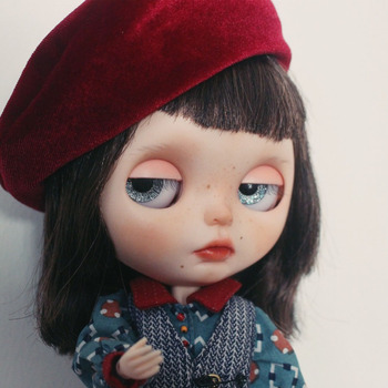 neo Blyth Doll NBL Customized Shiny Face,black hair Harajuku style freckles 1/6 BJD Ball Jointed Doll joint Doll Blyth for Girl