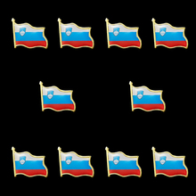 10PCS Collectible National Flag Slovenia Country Zinc Alloy Lapel Pins Set Brooch Badge For Clothing Accessories 10pcs collectible national flag slovenia country zinc alloy lapel pins set brooch badge for clothing accessories