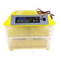 Nova chegada 96 ovos incubadora dupla camadas automática completa máquina de incubação para frango pato controle inteligente 220v + 12v display lcd