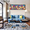 Abstract Canvas Oil Painting Painted Cow Print on Canvas Print and Poster Modern Art Wall Pictures for Living Room Cuadros 3