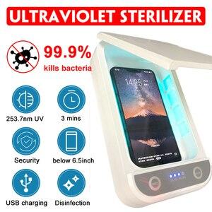 Image 2 - 紫外線消毒ボックス消毒充電器防止インフルエンザ iphone/サムスンの携帯電話のヘッドフォンマスク殺菌キル 99.9% ウイルス