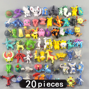 20 Pieces 4cm Middle Size All Different Kinds Action Toy Figures Model Toys Pokemonal Collection for Children Gift