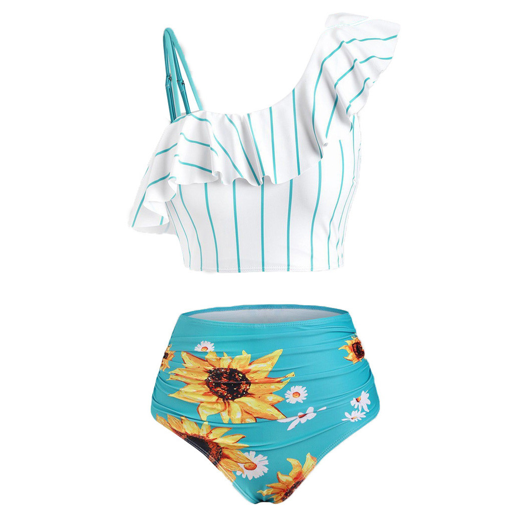 Sunflower Printed Bikini Set Sexy Swimwear Women 2020 Mujer Push Up Padded Biquini Bathers Bandage Bathing Suit Swimsuit Bikini 2