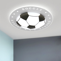 Decorative Soccer Ceiling Lights with Remote Control Modern Round Surface Mounted Dimmable Led Light Ceiling Lamp Football Kids
