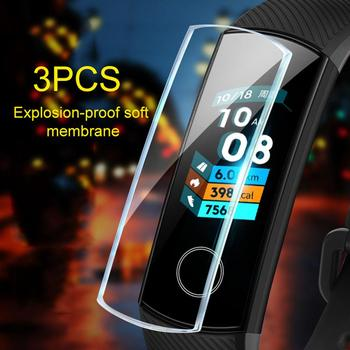 3Pcs TPU Explosion-Proof HD Soft Full Protective Film for Huawei Honor Band 5 image