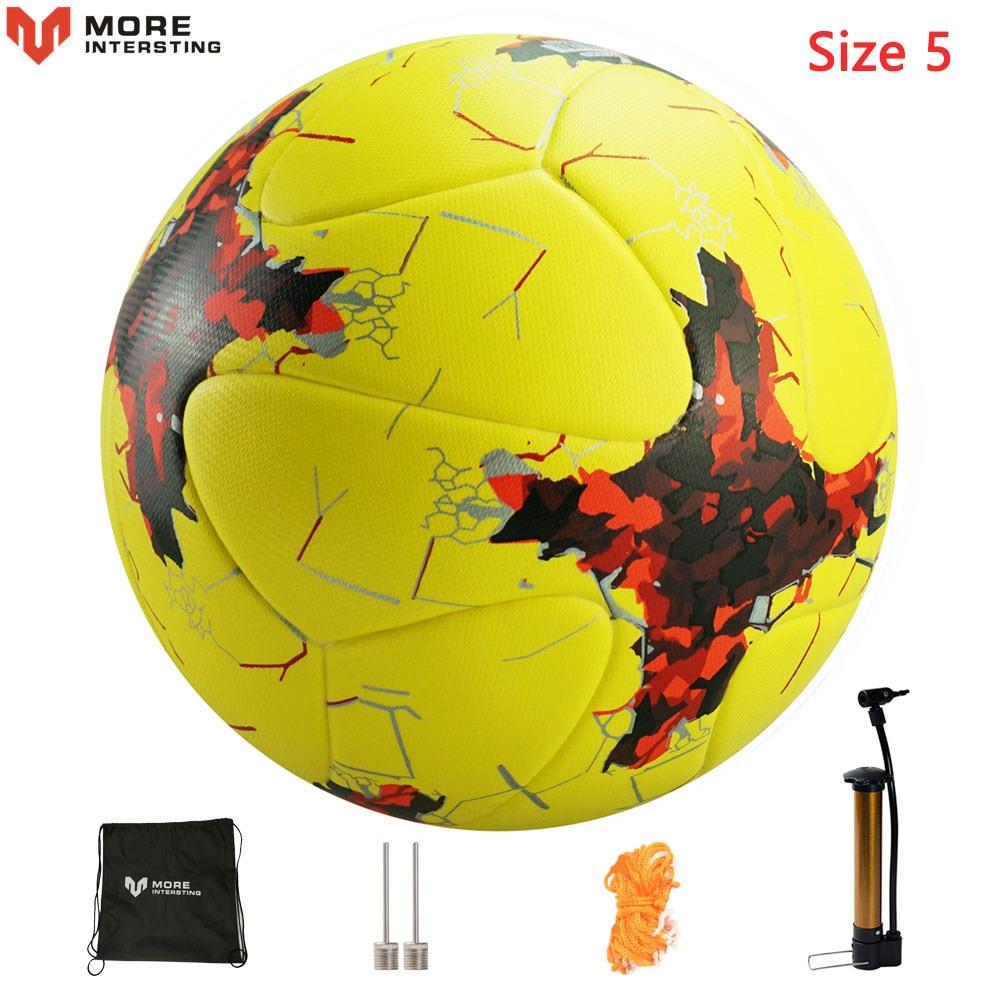 Russia Professional Size 4 Size 5 Football Premier PU Seamless Soccer Ball Goal Team Match Training Balls League futbol bola 16