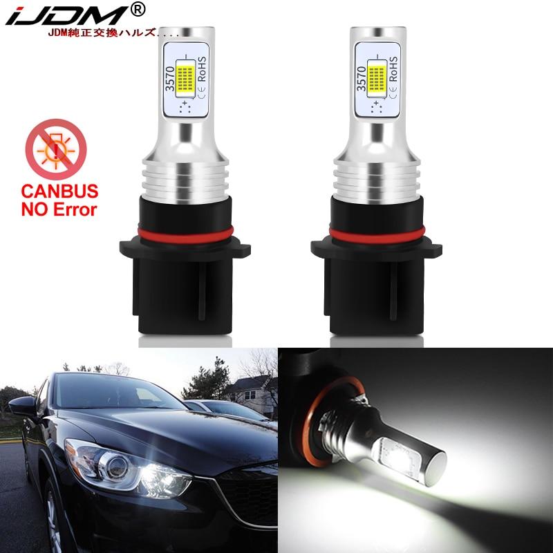 IJDM белые светодиодные лампы Canbus P13W SH24W для Mazda CX5 CX-5 2013 2014 2015, дневные ходовые огсветильник