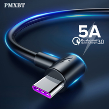 5A USB Type C Cable for Huawei Mate 20 P30 P20 Pro Mobile Phone Charger Cord USBC Fast Charging Supercharge Type-C Cables