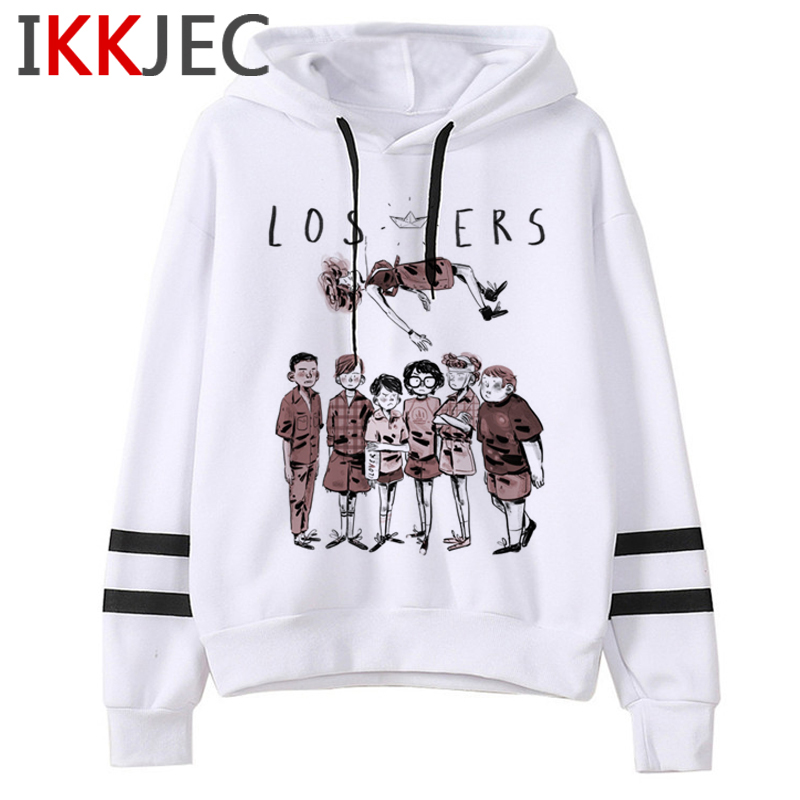 It Clowns Funny Cartoon Hoodies Men/women Pennywise Loser Horror Movie Sweatshirts Casual Hip Hop Streetwear Hoody Male/female