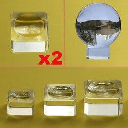 2 sztuk szkło na wyświetlacz stojak do kryształowej kuli 40 50 60 80mm duży wróżby fotografia Lensball podstawa duży magiczna kula na całym świecie uchwyt na w Ozdobne kule od Dom i ogród na