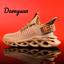 Damyuan 2019 New Fashion Blade Shoes Men Casual Breathable Light Sport Sneakers Plug Size 46 Zapatos De Hombre Unif
