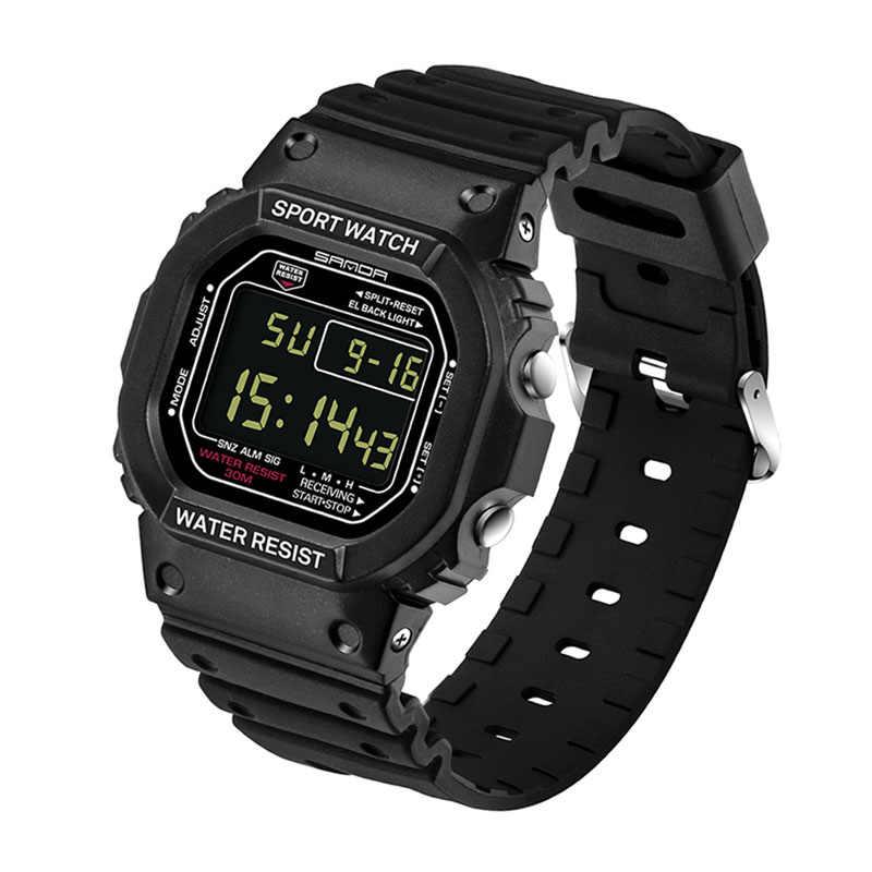 SANDA אופנה מקצועי ספורט שעון גברים נשים עמיד למים צבאי שעונים הלם גברים של רטרו אנלוגי קוורץ דיגיטלי שעונים