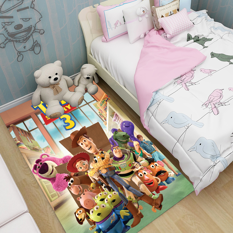 Anime Carpet Fashion Birthday Gift Toy Story Rug Home Bathroom Outdoor Camping Mat Boys Picnic Travel Kids Playmat Kids Rug