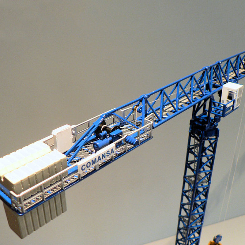 1/87 Scale Metal Alloy Heavy Tower Crane Libra Tower Diecast Crane Construction Model Fans Collections Home Decoration Display